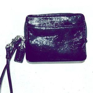 Coach Black Patent Leather Wallet/Wristlet